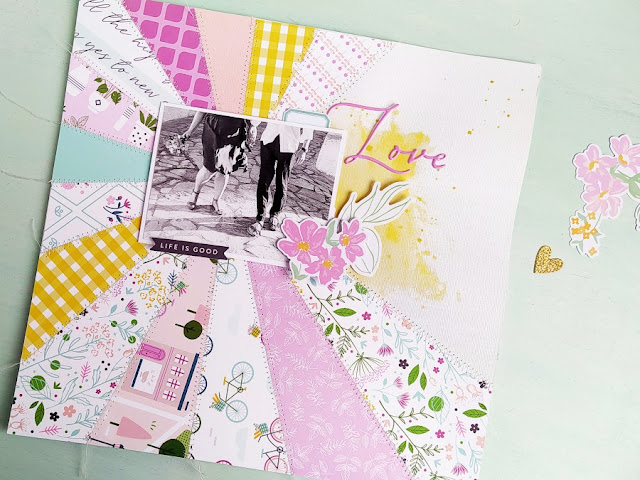 Scrapbook Layout - Come creare un Sunburst