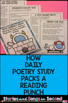Learn how thematic, weekly poetry studies    improve student reading fluency, accuracy, rhyming, comprehension, and writing skills.