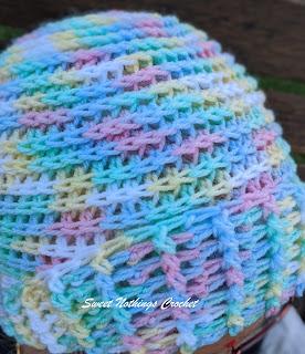 Sweet Nothings Crochet free crochet pattern blog, free crochet pattern for a beanie, photo of the Birch Creative Beanie,