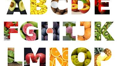 Abecedario de frutas en español