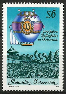 Austria 1984 - First Manned Balloon Flight