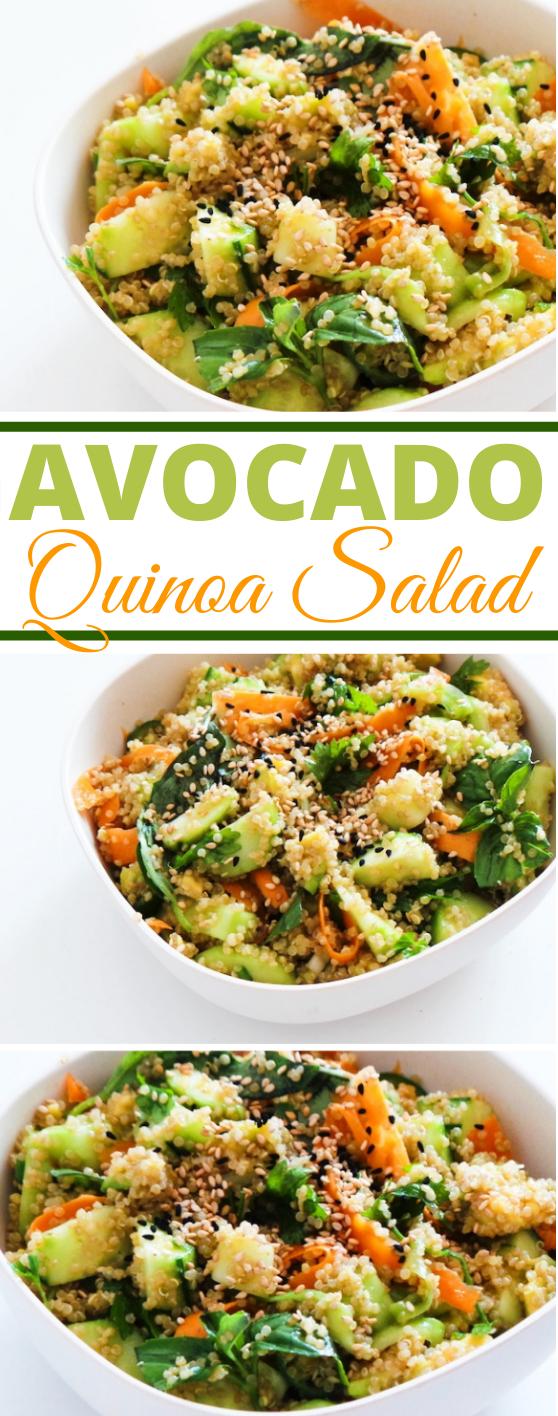 Avocado Quinoa Salad #vegan #salad #healthy #glutenfree #sidedish