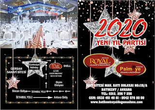 Royal Palmiye Düğün Salonu Ankara Yılbaşı Programı 2020 Menüsü