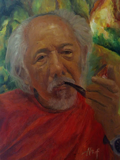 Affandi Portrait Painting