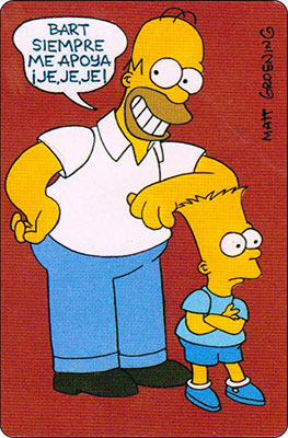 Bollycao The Simpsons Cromo 4