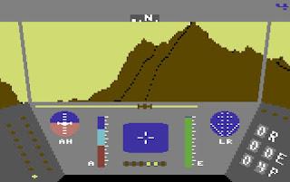 Rescue on Fractalus - versión Commodore 64