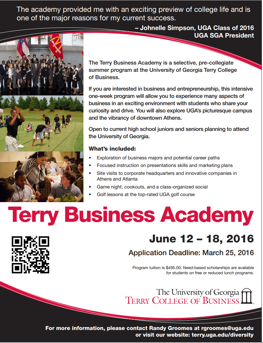 Ja Student Opportunities University Of Georgia Terry Business Academy