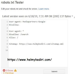 Panduan pemula cara setting robots.txt