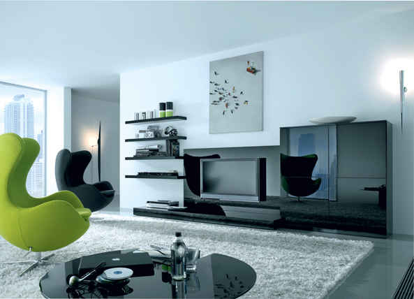How To Make Black and Green Living Rooms Designs