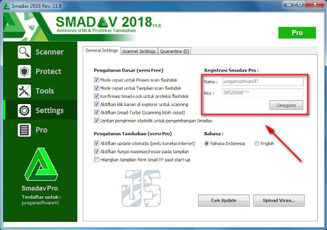 smadav pro registration key 2018