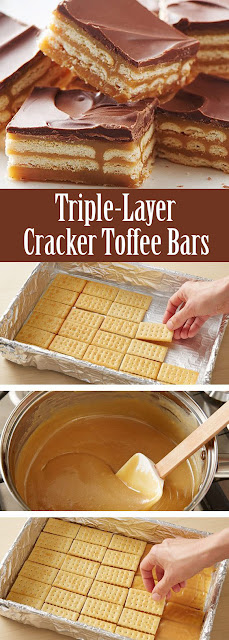 #Triple- #Layer #Cracker #Toffee #Bars #dessert #easyrecipe #recipe