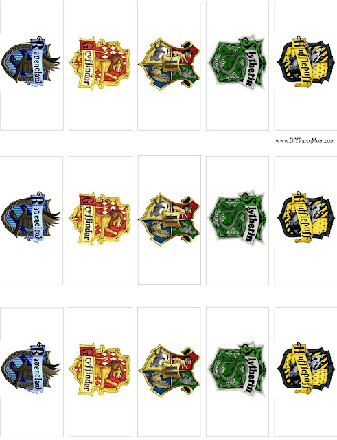 Hogwarts Houses Mini Candy Bar Wrappers