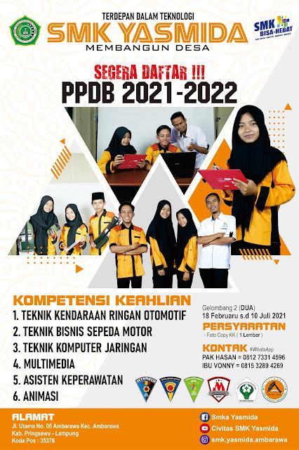 Download Desain Banner Promosi SMK Yasmida Ambarawa Jurusan Animasi
