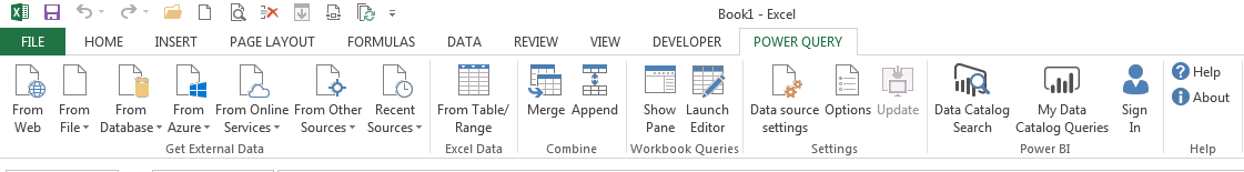 Power Query Excel 2013