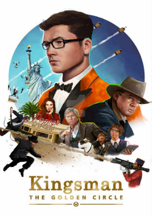 Kingsman The Golden Circle 2017 HDTS 350MB English 480p Watch Online Full Movie Download bolly4u