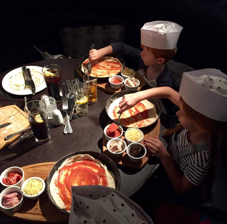 Pizza Making at Babucho Newcastle | Children's Menu & Lunch Review - pizza making