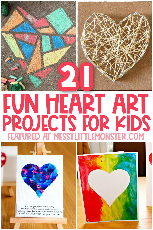 fun heart art projects for kids