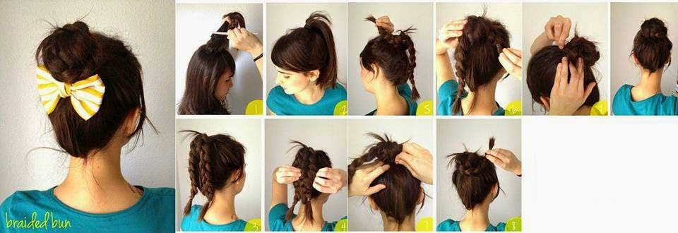 Enjoyable Easy Braided Bun Hairstyle Tutorial Step By Step Toronto Short Hairstyles For Black Women Fulllsitofus