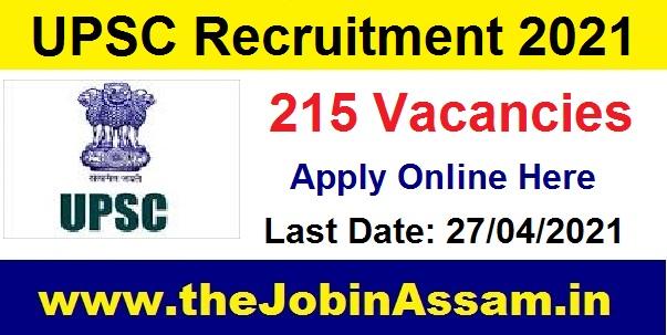 Union Public Service Commission (UPSC) Recruitment