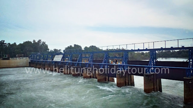 objek wisata bendungan pice di Belitung Timur