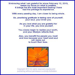 Recovery Inspiration Gratitude