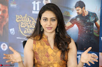 Rakul Preet Singh smiling Beautyin Brown Deep neck Sleeveless Gown at her interview 2.8.17 ~  Exclusive Celebrities Galleries 031.JPG