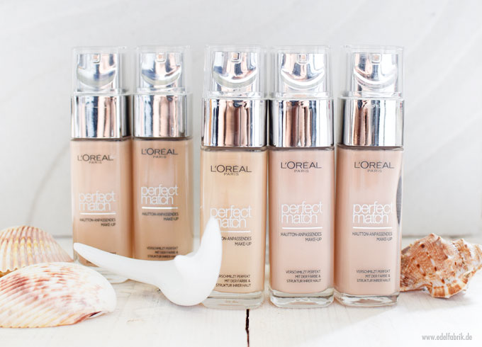 L'Oreal Perfect Match Foundation, Nuancen 1 bis 2