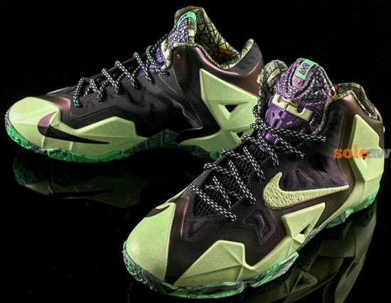 61dd6f05bda2 ... Cashmere Green Glow-Purple Dynasty February 2014. Check out the kicks  that LeBron James will lace up for the 2014 NBA All-Star game.