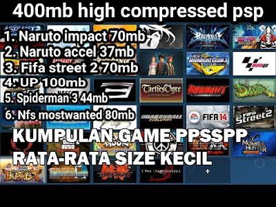 Kumpulan 6 Games PPSSPP dalam satu File .Zip 400mb (Naruto, FIFA, UP,  Spiderman, NFS dll)