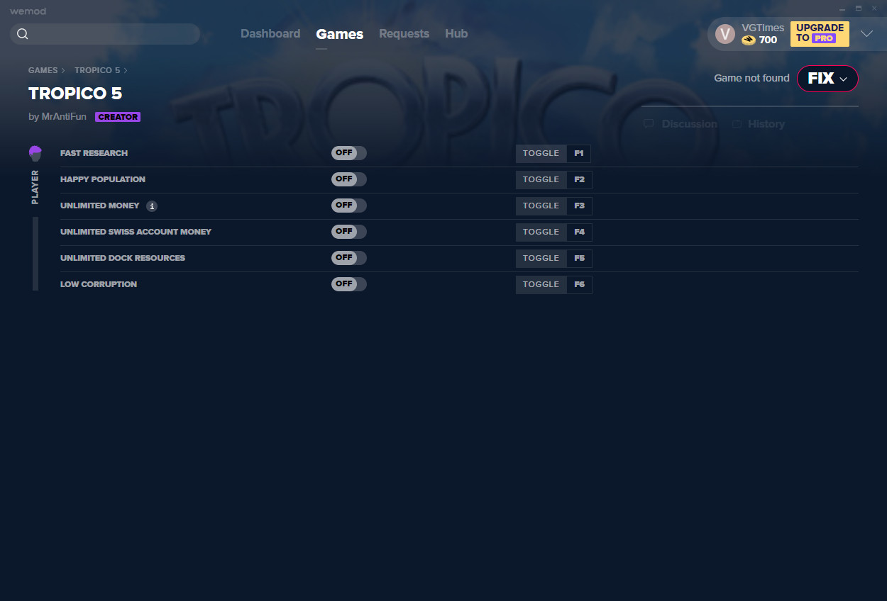 Tropico 5: Trainer (+6) from 11/15/2020 [WeMod]