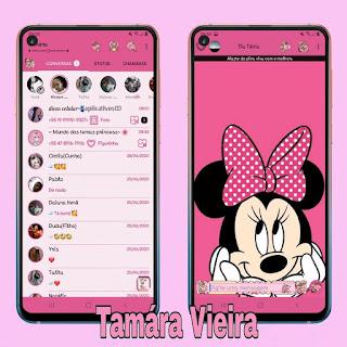 Minnie Pink Theme For YOWhatsApp & Fouad WhatsApp By Tamára