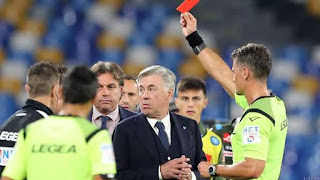 Napoli Chief Blasts Official for Sending Off 'Gentleman' Ancelotti