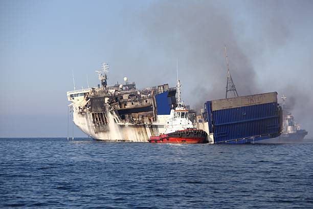 Iranian spy ship destructed by missile explosion in Red Sea