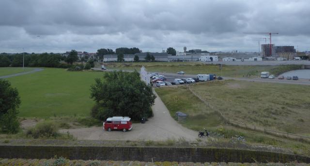 Estacionament de l'autocaravana al Fort Napoleon