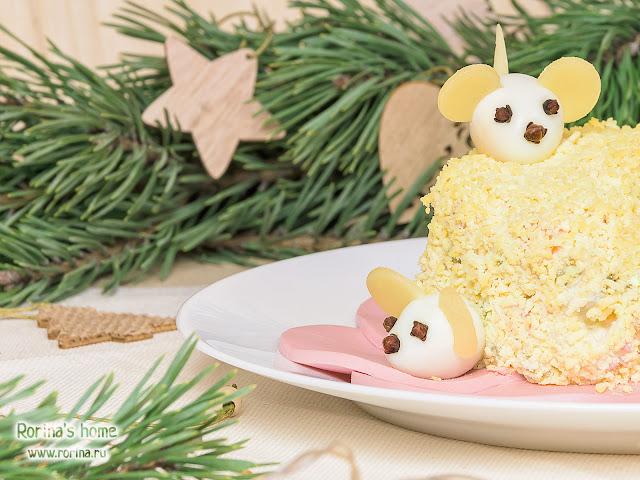 Как сделать мышек из яиц на салат для украшения: пошаговая инструкция
