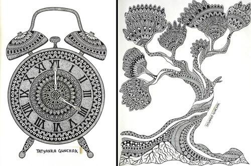 Mandala Drawings by Tatyanka Gunchak