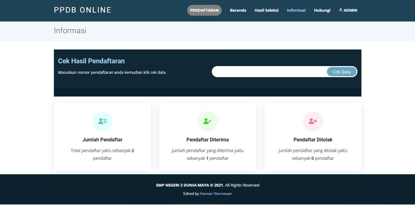 Source Code aplikasi ppdb online