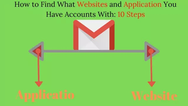 How to Find What and Application You Have Accounts With: 10 Steps