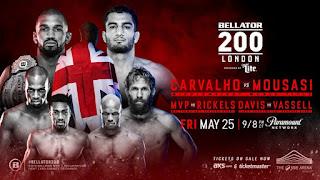 Ver Bellator 200 Carvalho vs Mousasi En vivo gratis 25 de Mayo online