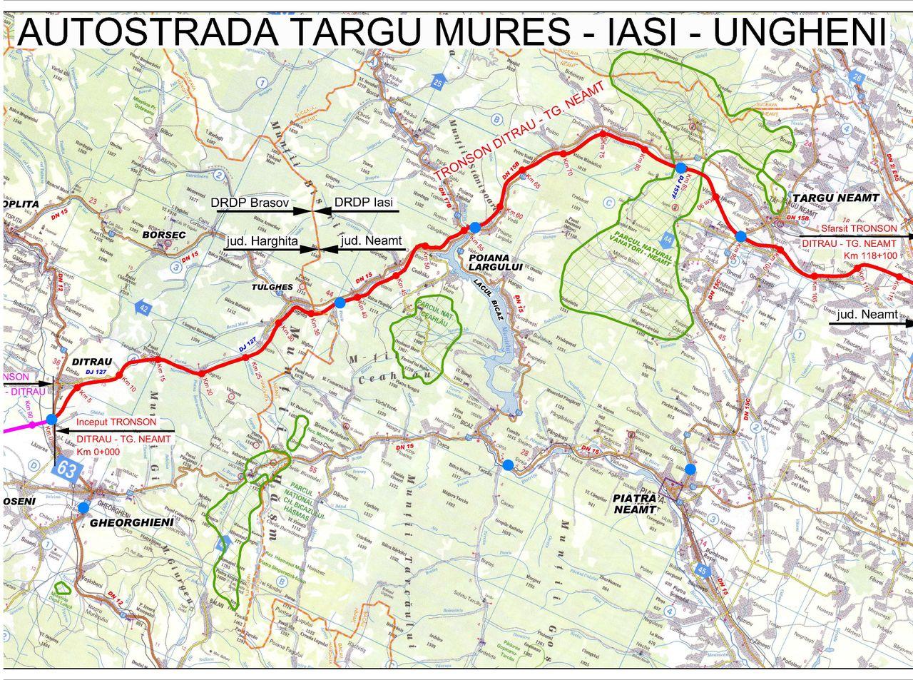 Hartiautostrazi Harta Autostrada Targu Mures Iasi