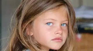 Model cantik Lena-Rose Blondeau saat berusia 4 tahun. (Vogue) updetails.com