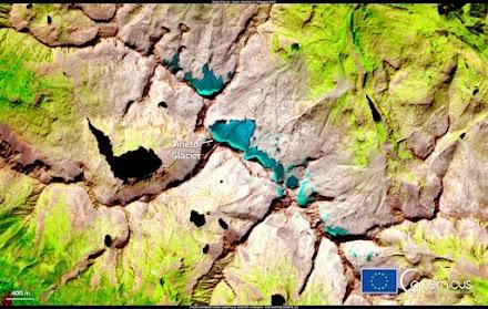 Μία αποκαρδιωτική δορυφορική φωτογραφία του Copernicus: «Όλοι οι μεγάλοι παγετώνες στα Πυρηναία θα εξαφανιστούν»