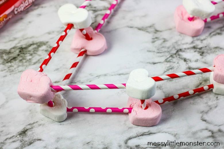 building a heart marshmallow stem challenge
