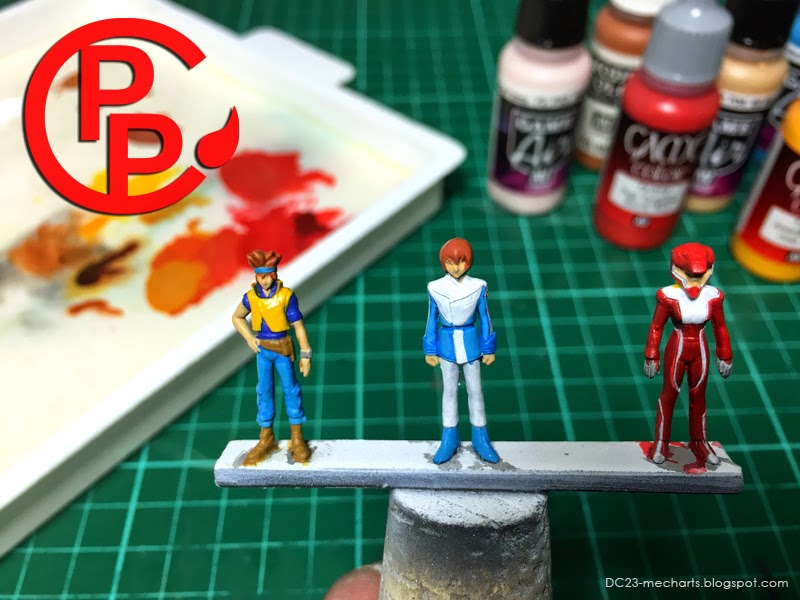 How to Paint Gundam Pilot Figures Tutorialphoto