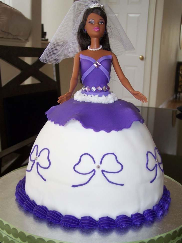 bridal shower barbie cake design theme ideas