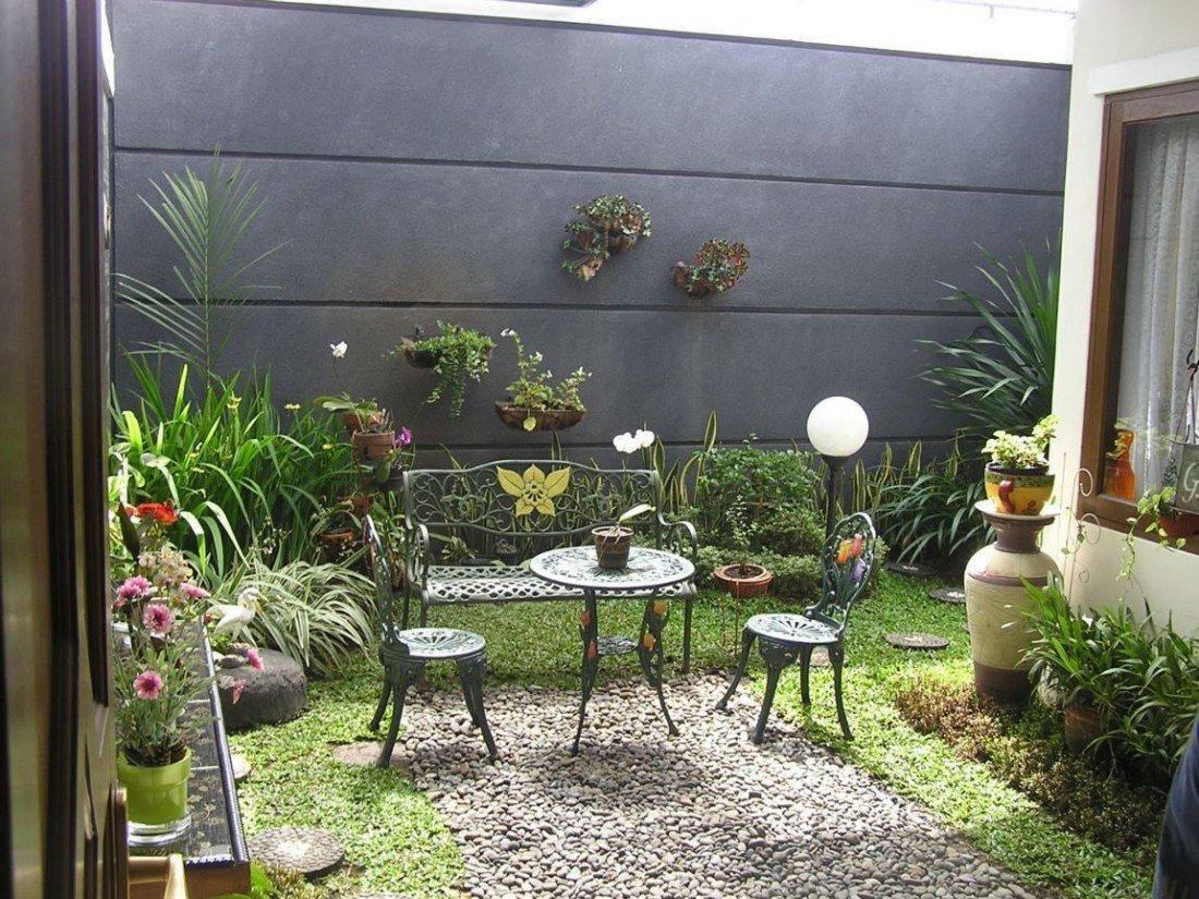 75 desain taman belakang rumah minimalis klasik for Design jardins