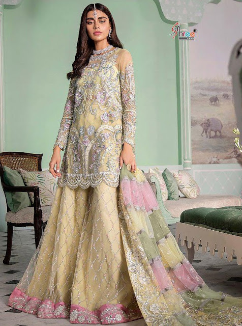 Shree Fab Crimson Luxury Edition Georgette Pakistani Suits