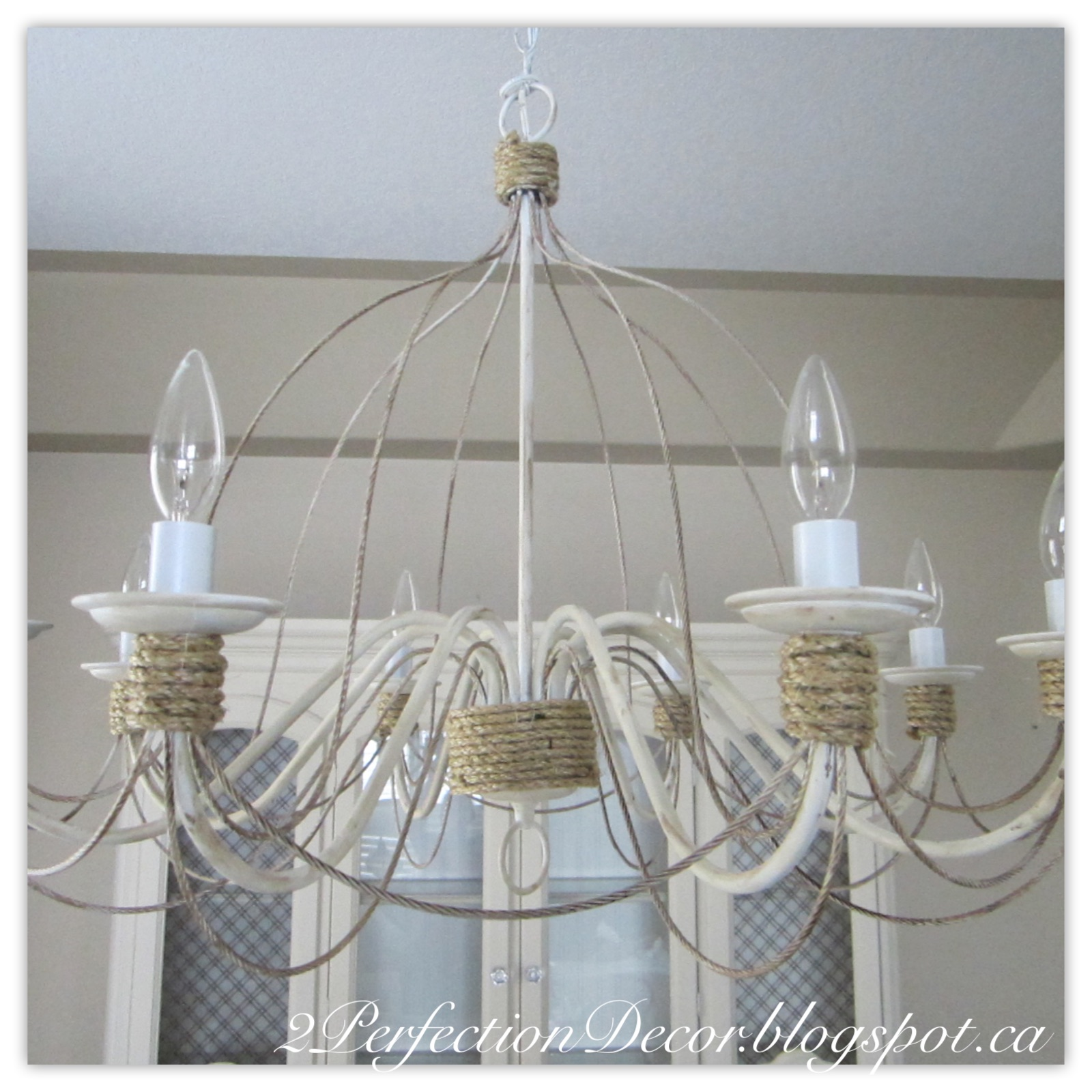 2perfection decor updating a vintage chandelier for Chandelier mural antique