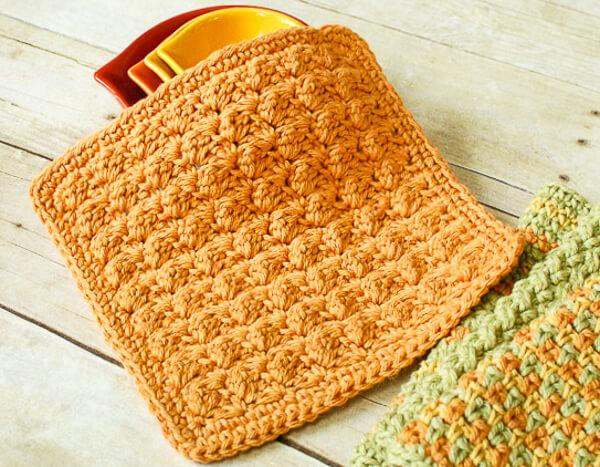 DIY crochet dish cloth