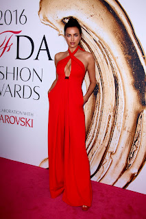 Irina Shayk Deep Cleavage In Red Dress